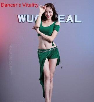 Cheap Belly Dance Suit Short Sleeves Top+Skirt 2pecies For Women Dancing Practice Set - discount item  12% OFF Stage & Dance Wear
