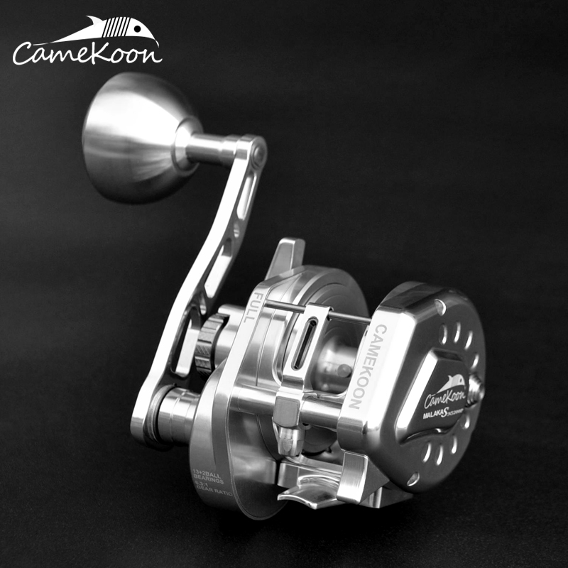CAMEKOON Fishing napowietrznych Reel 6.3: 1 przełożenie 13 + 2 łożyska kulkowe High Speed Sea Tournament duża gra idealne powolne Jigging Reel