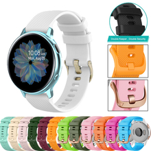 18/20/22MM Watch Band for Samsung Galaxy Watch 42/3 41/45mm/Active 2 40 44 for Vivoactive 3/S40/Forerunner 645 Silicone Strap