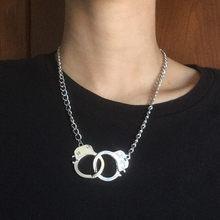 Erkek ve kadın abartılı boyun moda aksesuar tasarım kısa kolye aşk kelepçe metal kolye dekoratif kolye