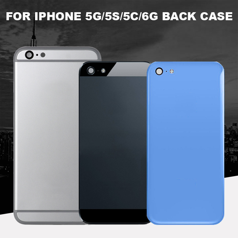Best Quality For IPhone 5 5s 5c 6  Rear Glass Middle Frame Chassis Full Housing Battery Set Door Cover
