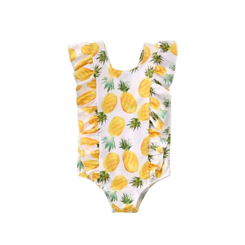 AU Kid Baby Girl Ruffle Bikini Swimwear Swimsuit Bathing Beach One-Piece Costume