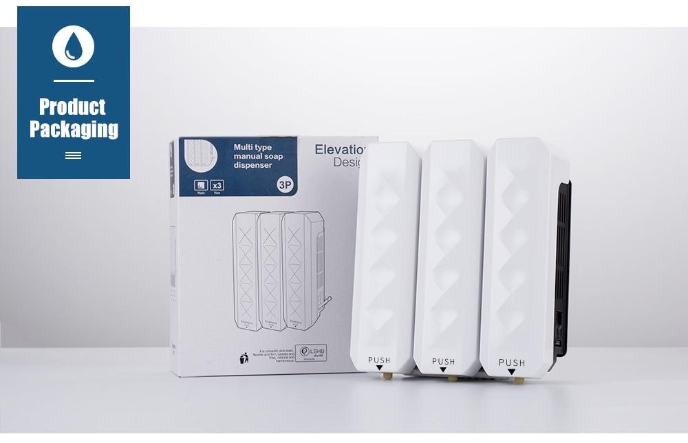 Hf79ab7e7e5484605b75ec717b8458aceo Nail Free Wall Mounted Bathroom 350ML Soap Dispenser Mounted Shampoo Liquid Soap Bottle Bathroom Accessories