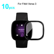 10pcs For Fitbit Versa 3 Soft Smart Watch Screen Protector Guard 3D Curved Edge Full Coverage Protective Film Cover