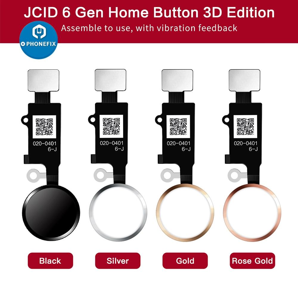 JC 6-я 3D сенсорная универсальная кнопка для дома, сканер отпечатков пальцев, гибкий кабель для ремонта iphone 7 7P 8 8P, Кнопка возврата, кнопка возвр...