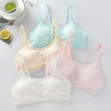 Underwear Puberty Young-Girls Padded-Brassiere Spaghetti-Strap Removable Training-Bra