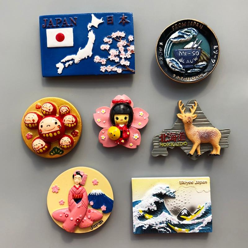 Япония карта Токийский сувенир крепление Фудзи круглый Дхарма Фауст дам Блау магнитные наклейки креативный резиновый магнит на холодильник