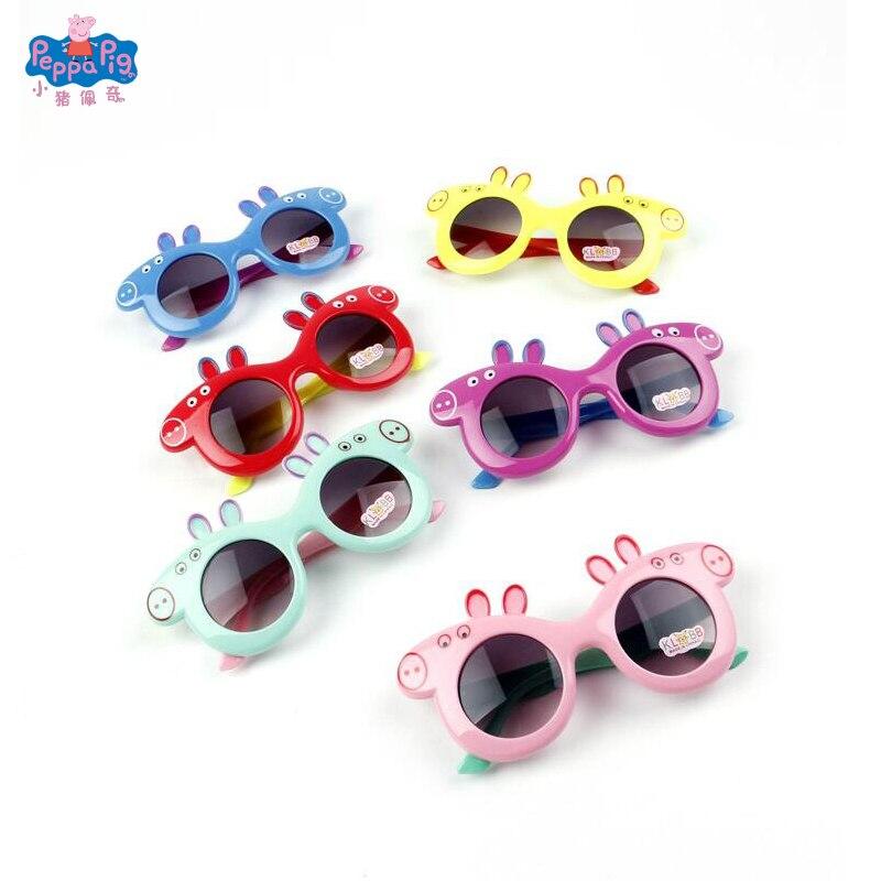 Пеппы с героями из мультфильма «Свинка Пеппа» из прекрасные солнечные очки для детей девочек детские солнцезащитные очки Круглый в ритме уличной моды для маленьких мальчиков очки милый подарок на день рождения