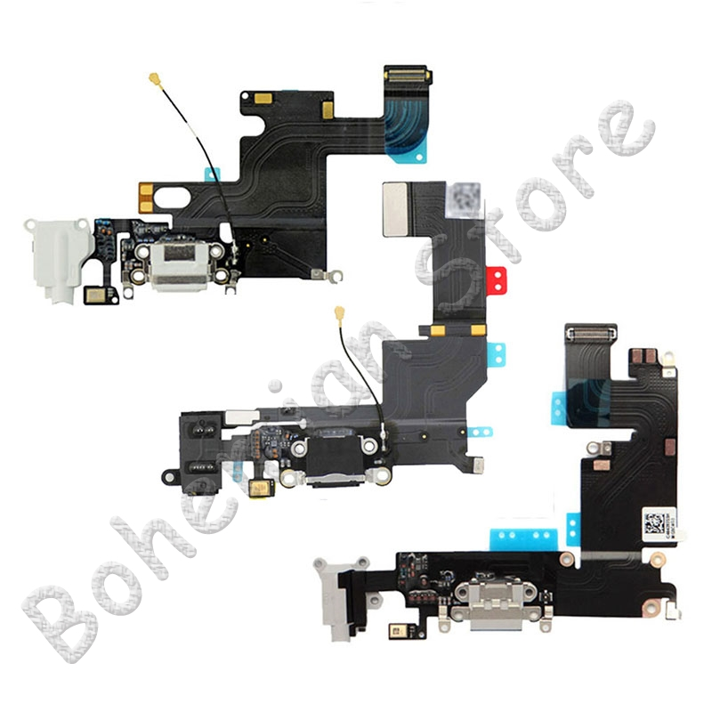 USB Charger Port Dock Flex Cable For iPhone 6s 6 Plus 5 5S SE Dock Charging Connector With Mic Mobile Phone Flex