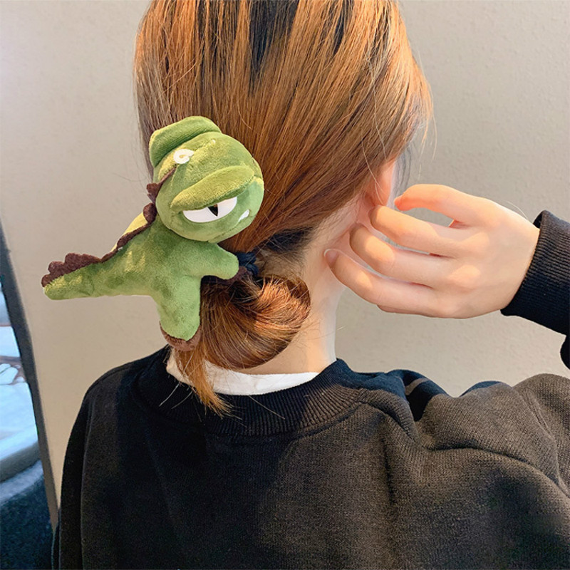 Korean Cute Dinosaur Hair Ties For Women 2020 Cartoon Head Rope Girl Cute High Elastic Hair Bands