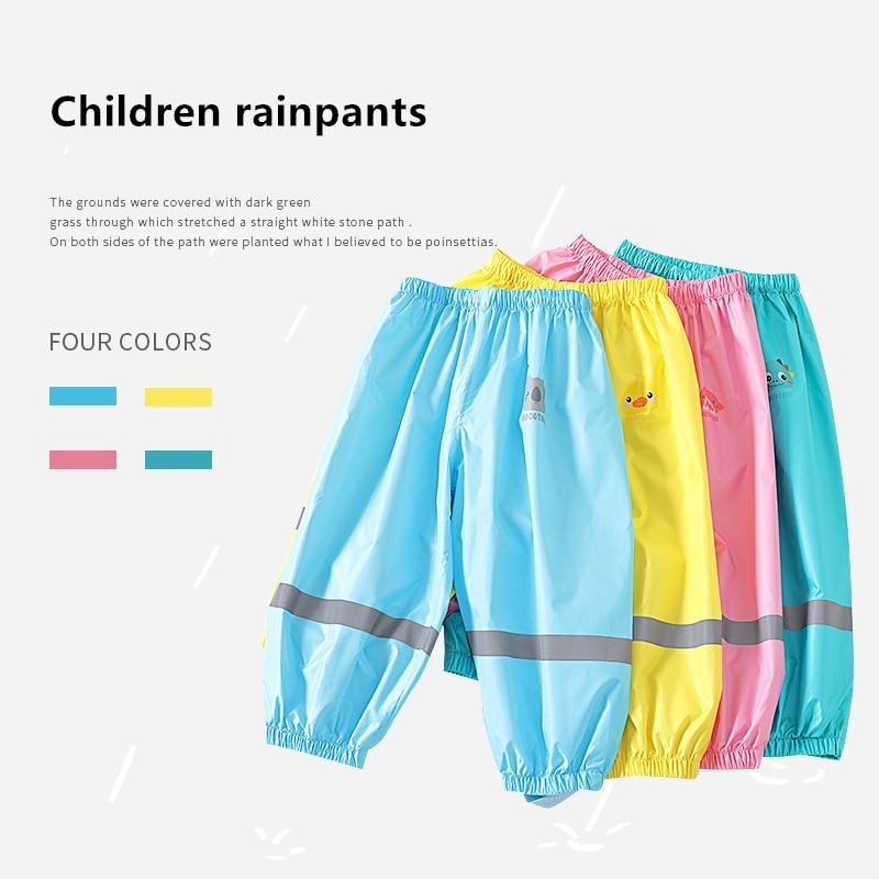 Korean Style Kids Rain Pants Boys And Girls Students Baby Waterproof Fashion Children