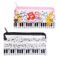 Pencil-Case Transparent-Pen-Bag Plastic Student New Music Keyboard Gift Note-Piano