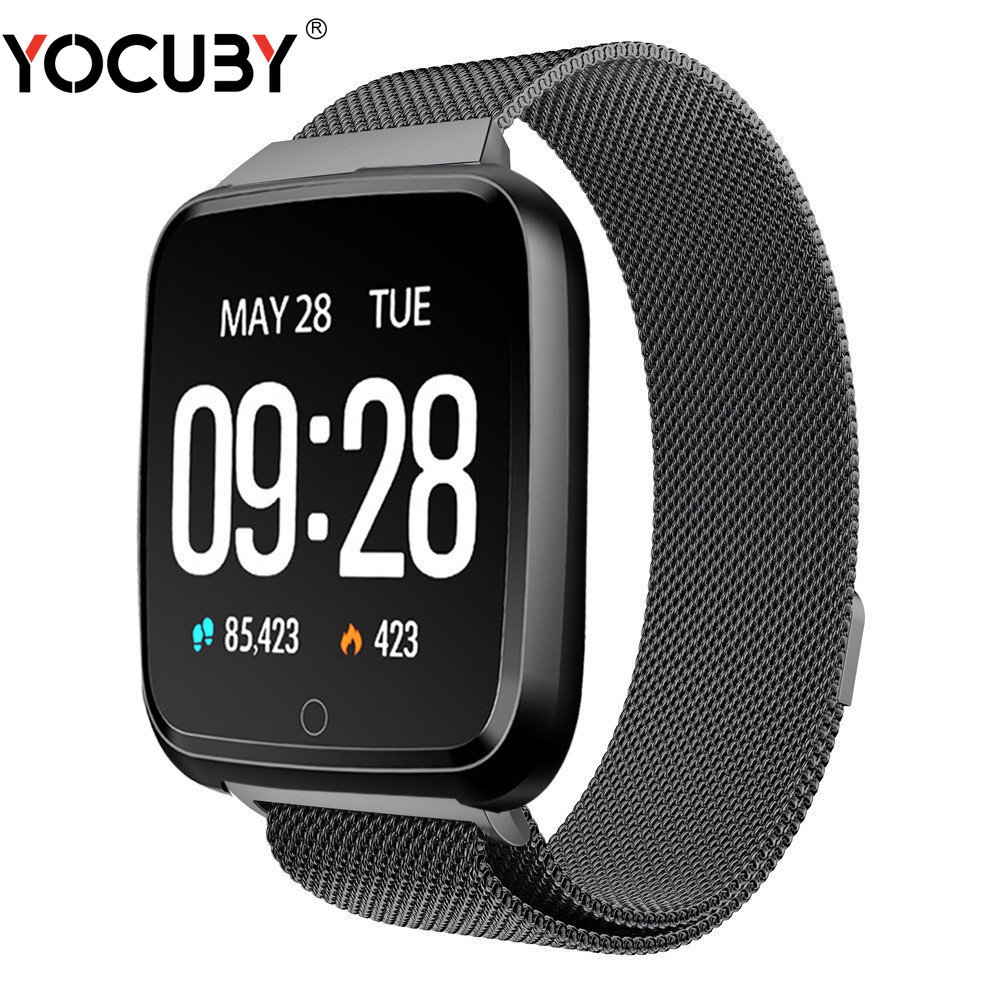 YOCUBY Smart Watch Blood Pressure Oxygen <font><b>Smartwatch</b></font> Waterproof BT4.0 Heart Rate Monitor for IPhone Android Xiaomi Sport Watch <font><b>Y7</b></font> image