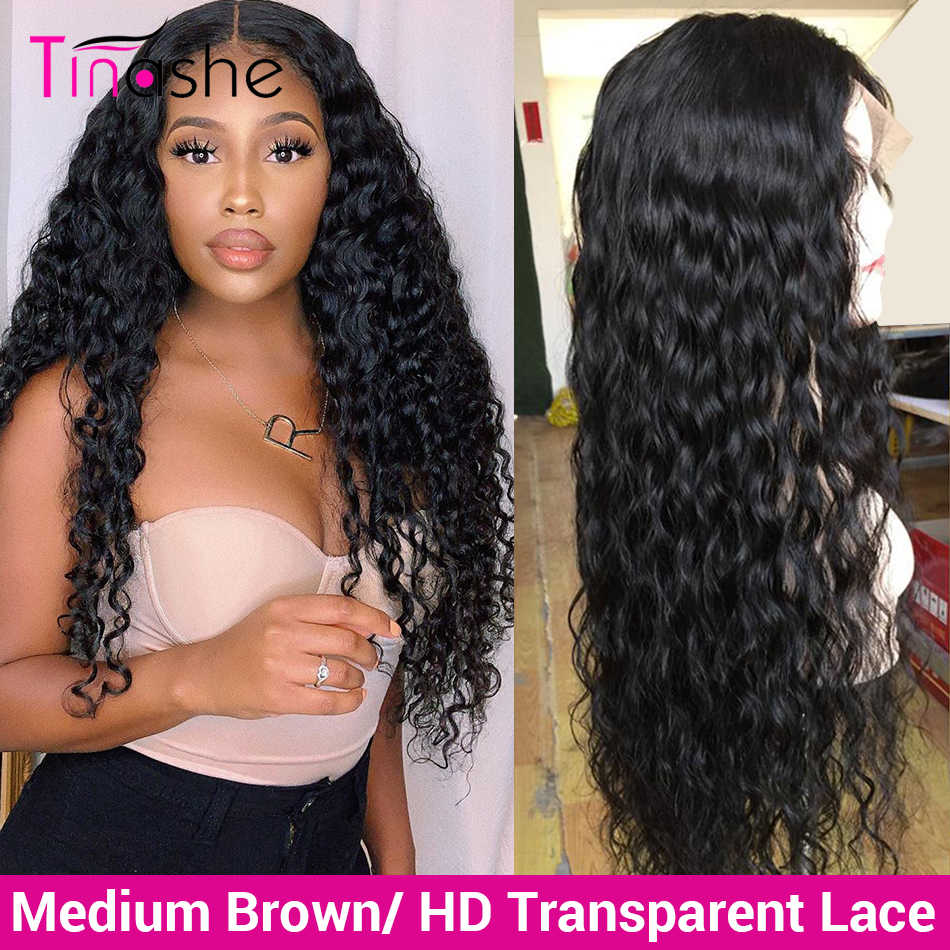 Tinashe Water Wave Wig Hd Transparent Lace Front Human Hair Wigs 250 Density 360 Lace Frontal Wig Brazilian Curly Human Hair Wig