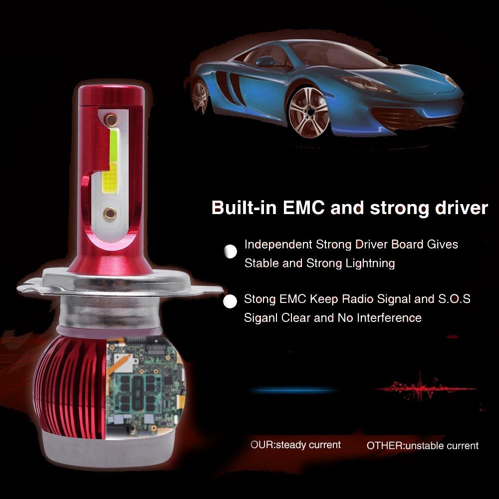 Светодиодные фары головного света авто Замена 8000лм алюминиевые 9 V-36 V лампы
