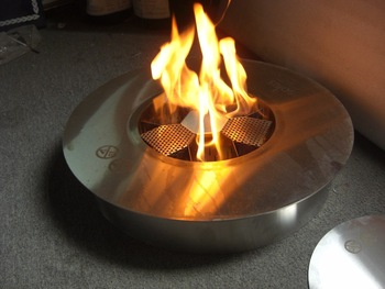 Hot Sale Real Fire Stainless Steel Manual Ethanol Fireplace Round Burner