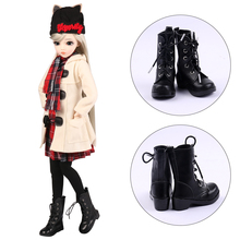 UCanaan 1 Pair of BJD Shoes PU Leather Boots For 1/3 BJD Dolls 60CM Doll Accessories Girls DIY Dress UP Toys Accessories