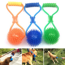 Multifunction Pet Molar Bite Ball Toy Cleaning Teeth Elasticity Soft Safe for Dog Puppy SDF-SHIP(China)
