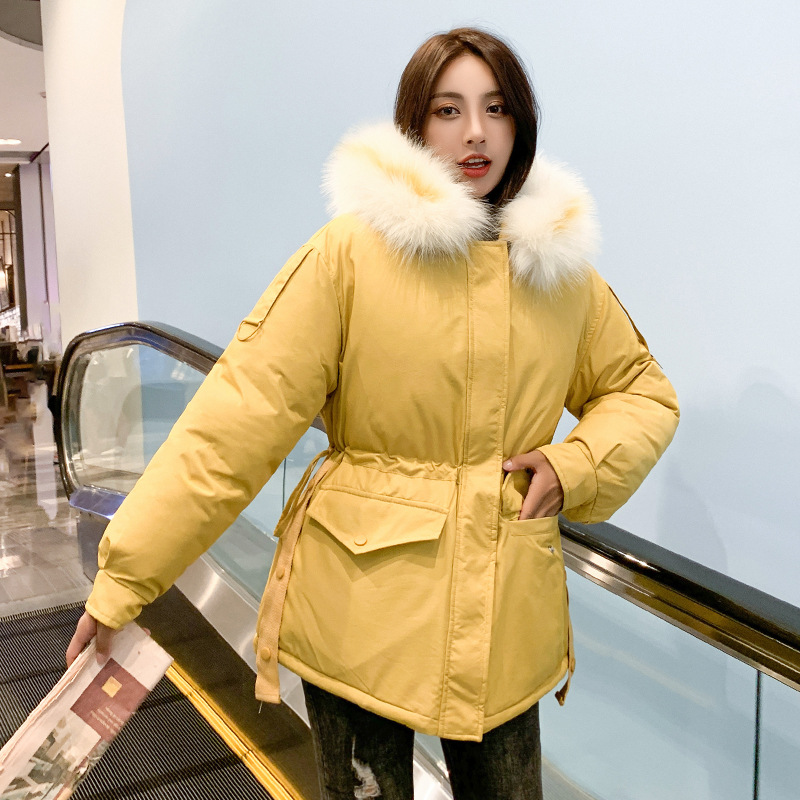 2019 New Style Korean-style Mid-length Loose Comfortable Versatile Cotton New Style Cotton-padded Jacket Down Jacket Cotton-padd