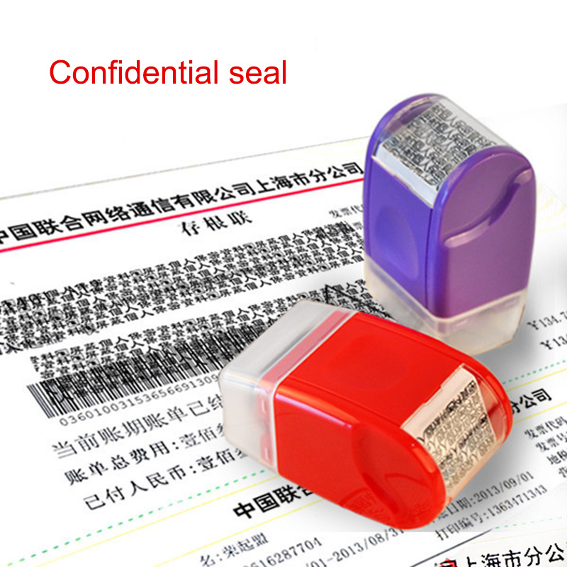 Rolling Privacy Information Guard Stamp Confidential Seal Stamp QJY99