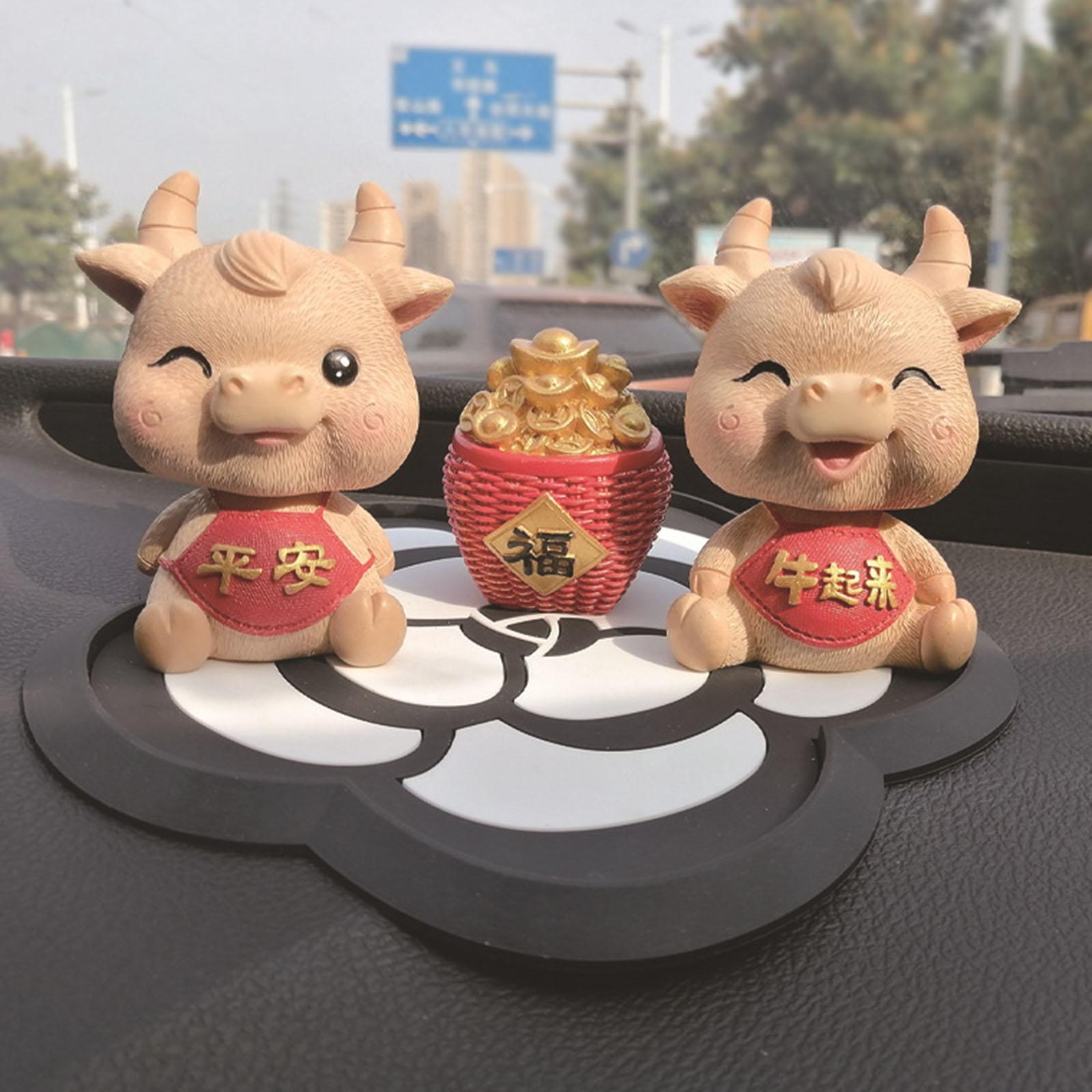 2021 Новый год Китайский Знак зодиака бык крупного рогатого скота плюшевые игрушки с милыми цветами, тканевые талисман плюшевая кукла мягкая ...