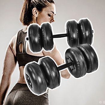 20-25kg Water Filled Adjustable Dumbbells Environmentally Friendly Training Arm Muscle Fitness Dumbbell Anti Impact Portable