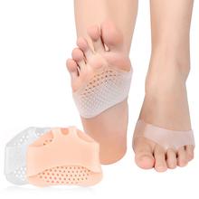 1 para silikonowe przednie poduszki pod śródstopie ulga w bólu ortezy masaż stóp antypoślizgowe Protector szpilki elastyczna poduszka pielęgnacja tanie tanio CHIPROUND Silicone Gel Średni DR778