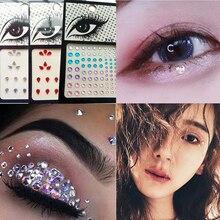 Fashion Hot 4 Colors Tattoo Diamond Makeup Eyeliner Eyeshadow Face Sticker Jewel Eyes Crystal maquillaje
