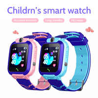 Crianças relógio inteligente telefone à prova dlbs água crianças smartwatch lbs localização 2g cartão sim chamada sos relógios do bebê meninos meninas para android ios