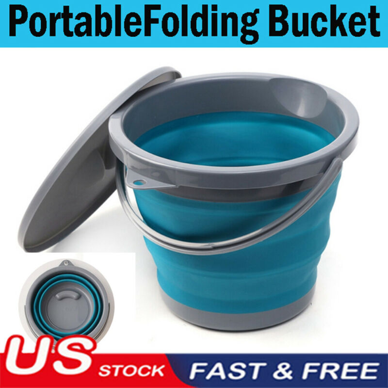 Fishing Bucket Folding Collapsible Barrel Fishing Camping Picnic Washbasin NEW
