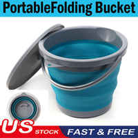 Fishing Bucket Folding Collapsible Barrel Fishing Camping Picnic Washbasin NEW