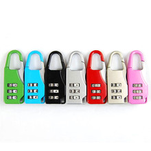 1 Pcs 6 Colors Mini 3 Dial Digit Number Code Password Combination Padlock Security Travel  Luggage Safe Lock Free Shipping excellent quality 4 dial digit number combination travel security code password lock padlock brand new sl16 094