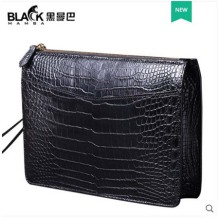 heimanba Thai crocodile skin  Belly big capacity clip bag man business hand take bag leather hand bag man men clutch bag недорого