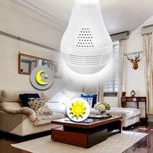 1080P PTZ 360 ° FishEye Wireless IP Camera Bulb Light 3D VR Mini Panoramic Home CCTV Security Bulb Camera Baby Sleeping Monitor цены онлайн