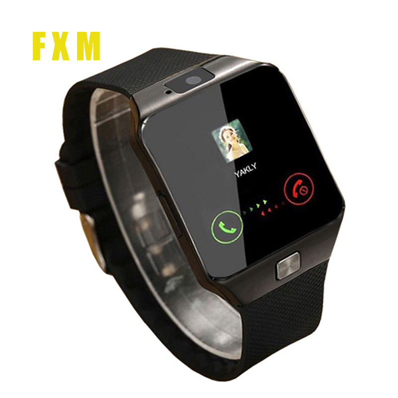 Call Bluetooth watches for men DZ09 Wearable Wrist Phone Watch Relogio 2G SIM TF Card smartphone the mens' watches + 8GB Card