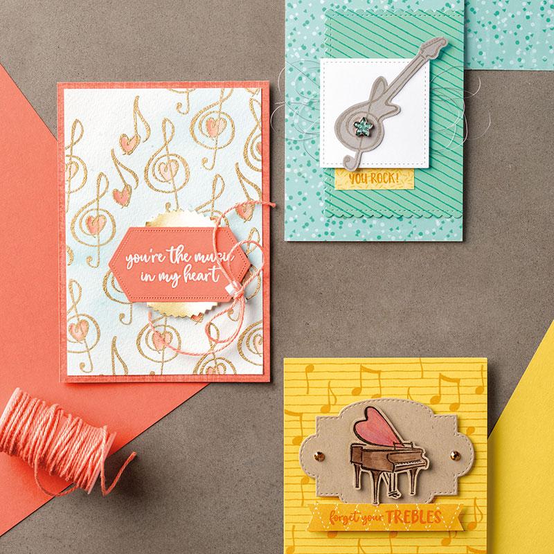 Купить с кэшбэком JC Cutting Die and Rubber Stamp Scrapbooking Musical Notes Piano Words Craft Die Cut Stencil Card Make Album Sheet Decoration