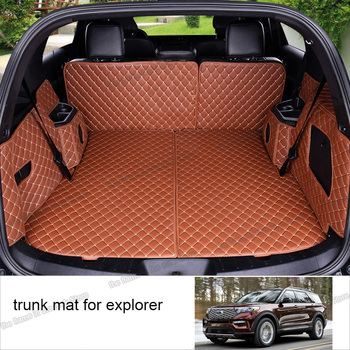 цена на lsrtw2017 leather car trunk mat cargo liner for ford explorer 2011 2012 2013 2014 2015 2016 2017 2018 2019 interior accessory 5