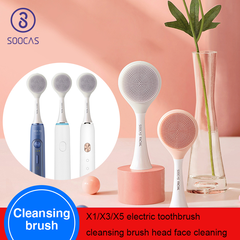 SOOCAS Facial Cleansing Brush Head For Xiaomi Youpin X1 X3 X5 Sonic Electric Toothbrush SOOCAS SOOCARE Electric Massage Brush X3