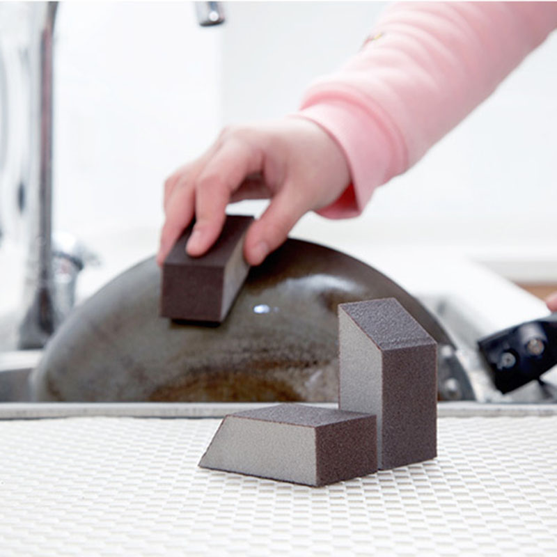 Strong Cleaning Emery Kitchen Cleaning Sponge Brush Dishwashing Bowl Sponge Pot Rust Removal Glass Window Cleaner Cleaning Brush