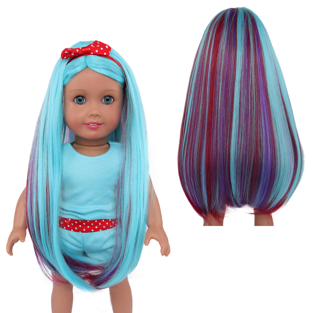 Doll Wigs for All Dolls High Temperature Wire Hairpiece Fluorescent Green