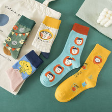 Outono e inverno meias de algodão penteado meias femininas coreano tubo de frutas meias de algodão da menina da moda
