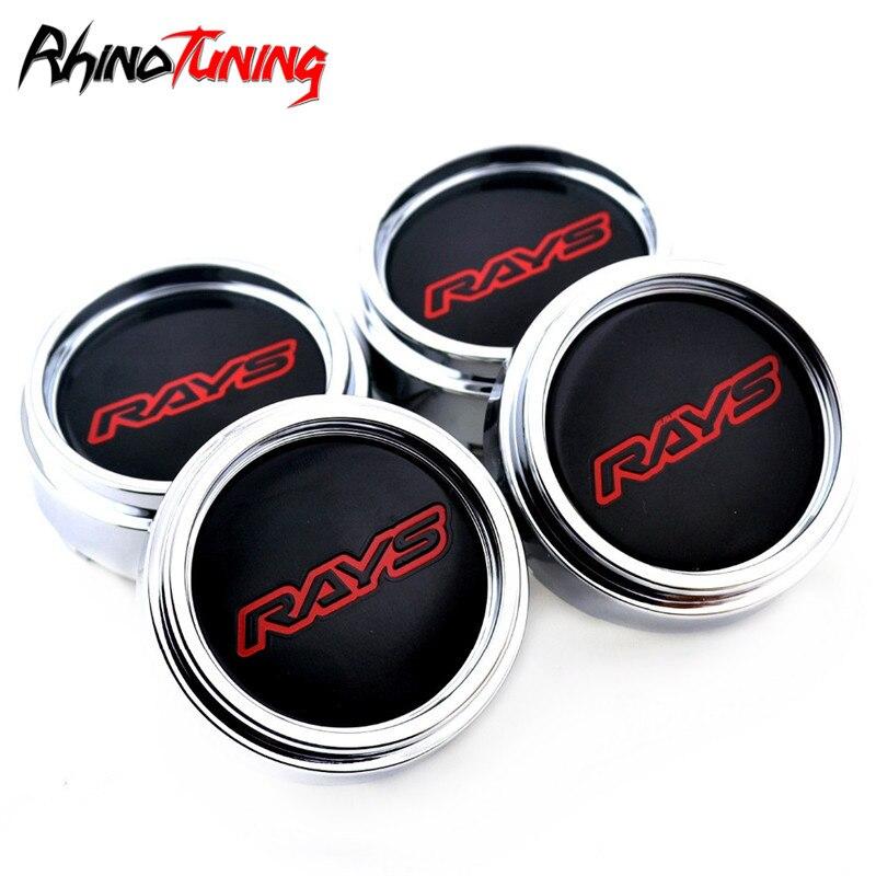 50mm 3D Stickers 4 pcs Silver Logo Carbon WRC Imitation Center Cap Wheel Trims