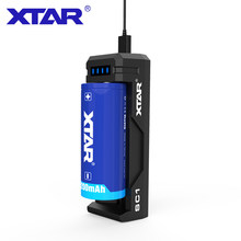 XTAR SC1 USB Charger 2A Snel Opladen Voor 5V USB Power Oplaadbare 18700/22650/25500/26650 //20700/21700/18650 Acculader(China)