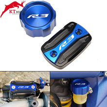 For Yamaha YZF R3 YZFR3 R3 2015  2021 2020 Motorcycle CNC High quality Rear & Front Brake Fluid Reservoir Cap Cylinder cover