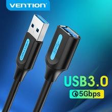 Vention USB câble d'extension USB 3.0 mâle à femelle câble USB 3.0 2.0 rallonge cordon de données pour Smart TV SSD PS4 USB câble d'extension