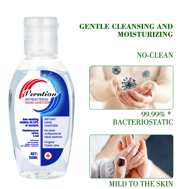 Anti-Bacteria Hand Sanitizer Gel Desinfectante De Manos Anti-virus Moisturizing Disposable Instant Outdoor Cleansing Hand Gel 2
