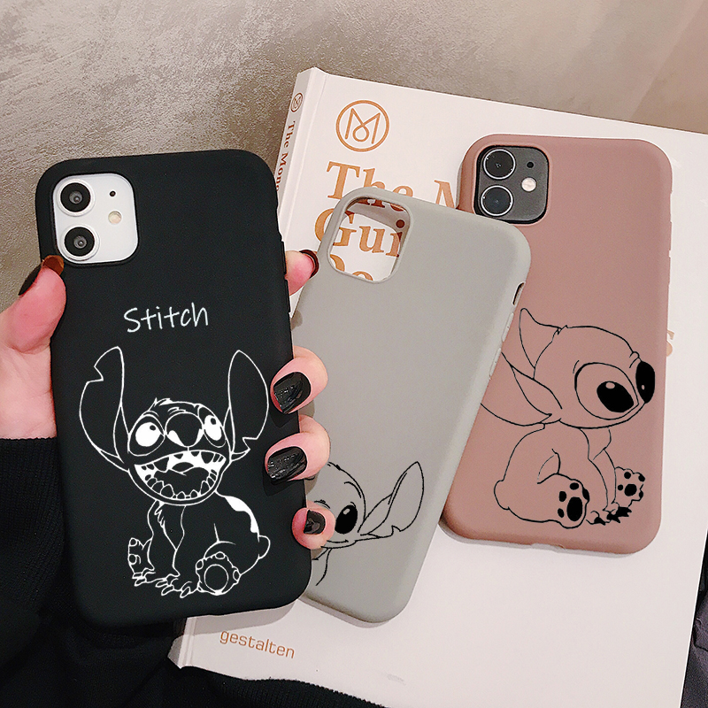 Cartoon Stitch Phone Case For Samsung Galaxy S20 S10 S9 S8 S7 S6 Plus Lite Ultra Edge S10e Frosted Silicone Cases Soft Cover