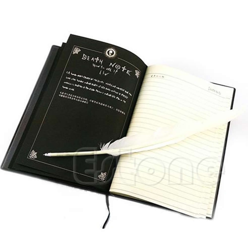 New Death Note Cosplay Notebook & Feather Pen Book Animation Art Writing Journal 1014