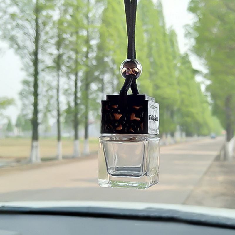 Car Parfume Bottle Car Air Freshener Empty Glass Bottle Auto Car Hanging Scent Air Freshener For Auto/Home/Office Decoration
