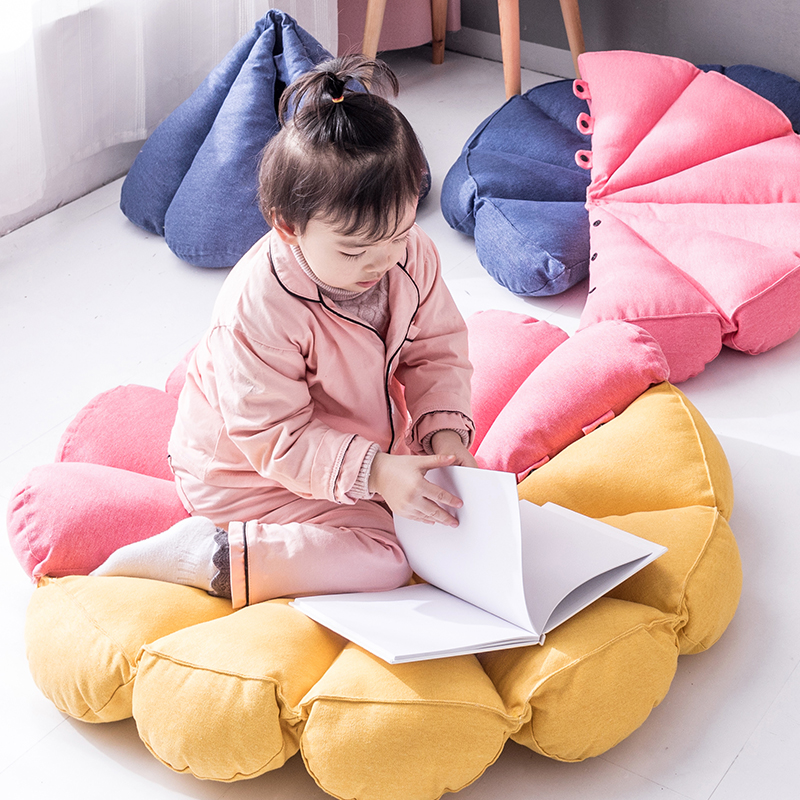 Fleur bébé tapis de jeu bébé détachable tapis demi cercle coussin oreiller jouet bébé Gym tapis Photo Shoot accessoires enfants chambre décor